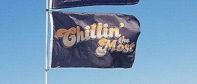 Kid Rock Chillin the Most flag rock&roll banner man cave flag Huge 3x5ft RV Boat