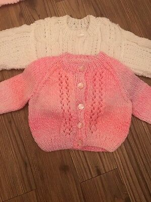 Baby Girls 0-3 Month Knitted Cardigans