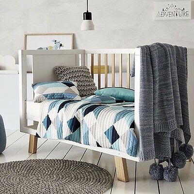 Adairs Kids Mystic Quilted Cot Cover Set Rrp$129.99