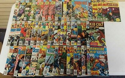 Lot of 41 Low Grade Bronze Age Western Comic Books DC/ Marvel - List in Details!