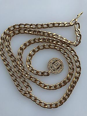 Vintage Authentic Heavy Gold CHANEL Chain Belt