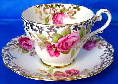 Royal Standard Fancy Gorgeous Pink Roses Cup & Saucer