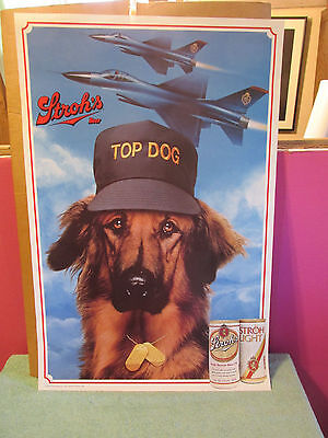 Stroh's Beer Poster Art Alex's Top Dog LOT 5 Original 1988 Detroit Vintage 1988