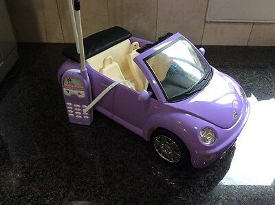 Barbie REMOTE CONTROL Purple VOLKSWAGEN Beetle Convertible Vehicle with remote
