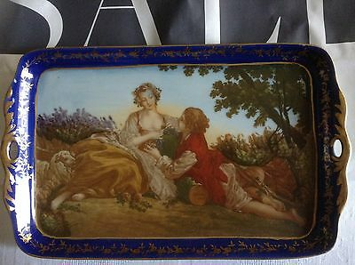 Handpainted Display Tray / Biscuit Tray.
