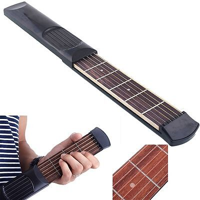Gadget Portable Beginners Practicing Tool 4 Fret 6 Strings Pocket Guitar