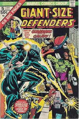 Giant-Size Defenders #5 in Very Good + condition. FREE bag/board