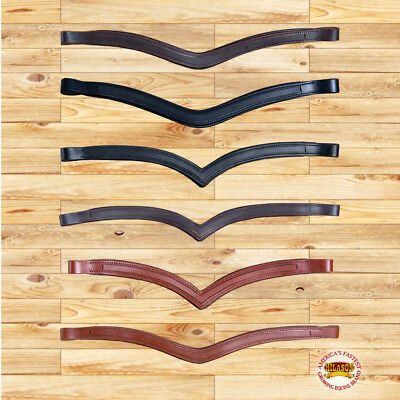 Hilason English Padded Bridle Browband Blanks Empty Channel