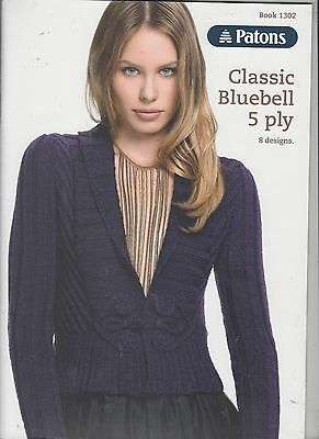 Patons Book 1302  Classic Bluebell 5 Ply - Ladies 8 Designs