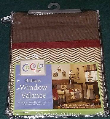 "NEW CoCaLo Baby ""Buttons"" Decorative Window Valance/Curtain"