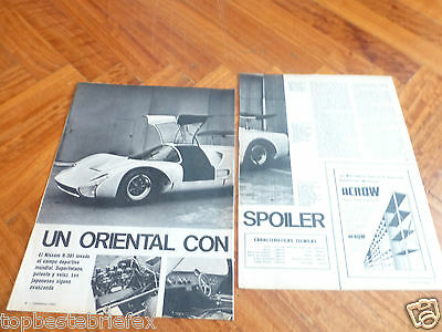 Nissan R-381 R 381 Racing Car 2 Pages Article Review Argentine 1968