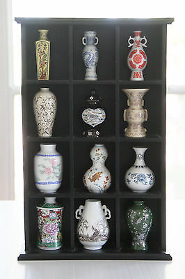 Franklin Mint Treasures of The Imperial Courts Mini Vases Set of 12 & Display