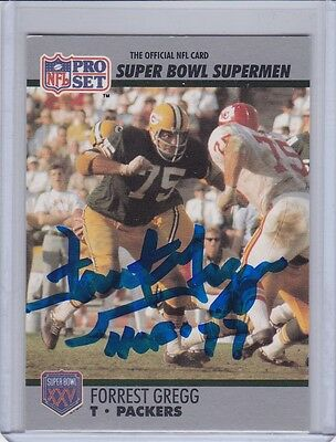 Green Bay Packers T Forrest Gregg Autograph Card w/ *COA* Signed Auto