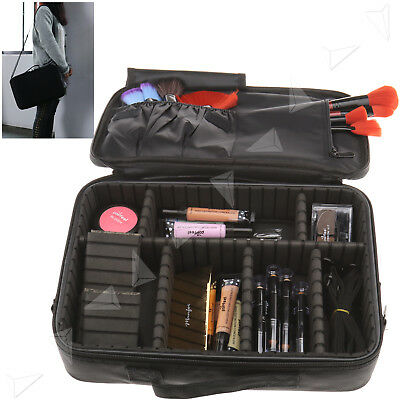 Cosmetic Makeup Bag Toiletry Case Organizer Storage Hanging Pouch Travel BLACK