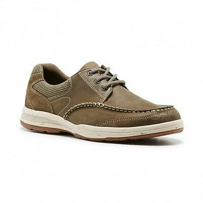 Mens Hush Puppies Edward Charcoal Grey Brown Suede Leather Lace Up Casual Shoes