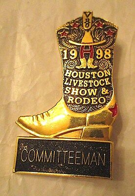 1998 Houston Livestock Show And Rodeo Committeeman Badge, #118162 On Back