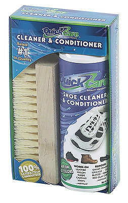 Quick Care Athletic Shoe Cleaner Sneaker Conditioner Leather Suede Brush Tennis