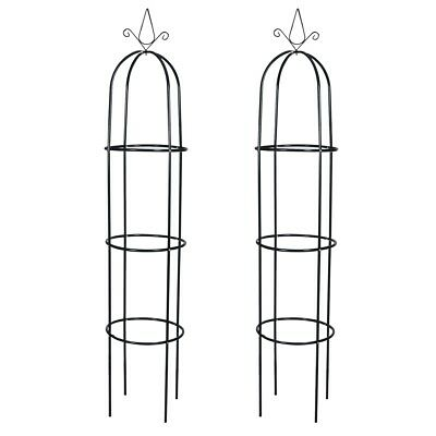 New 2pc Garden Metal Rose Arch 190cm Outdoor Wedding Patio Arbor Gardman Arbour