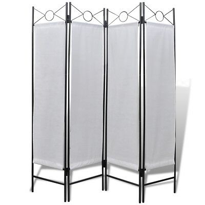 New 4 Panel Room Divider Window 160x180 Privacy Folding Screen Iron Durable Use