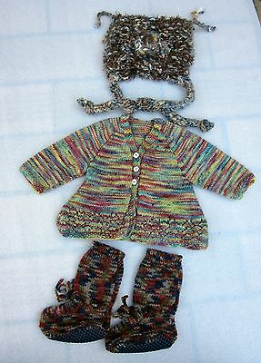 Hippy Baby NORDIC Knit Cardigan / Boots & Winter Hat - 00 / 0