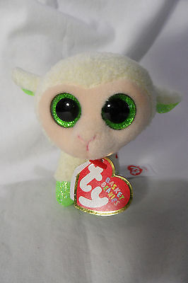 """Ty Basket Beanies Collection LALA the lamb 3"""" plush NWT (2015)"""