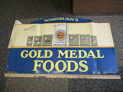 Washburn Crosby Gold Medal flour 1920s Wheaties cereal box store display pancake