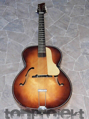 vintage Guitare de percussion archtop Jazz Lindberg ? Klira ? Germany 1950 1960