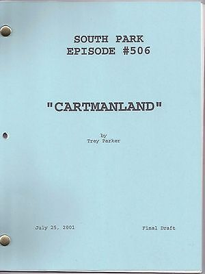 "SOUTH PARK genuine show script...""Cartmanland"""