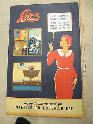 LIN-X Clear Gloss 1930s varnish wood refinishing deco store display sign house