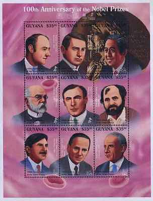 Timbres Personnages Guyana 3935/43 ** année 1995 lot 20860