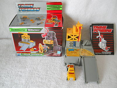 Vintage G1Transformers Micromaster Ironworks Complete in Original Box