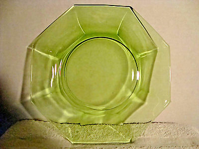 # 54 Gorgeous Green Octagon Glass Plate