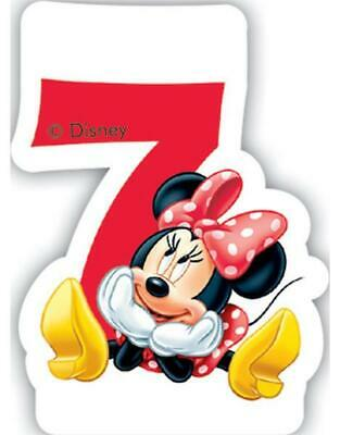 Minnie Mouse Number 7 Shaped Birthday Cake Candle