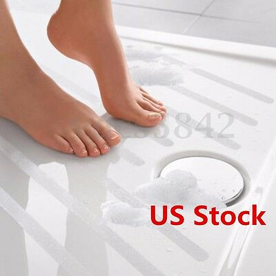 24PC Safe-T-Strips Clear Non-Slip Safety Applique Decal Stickers Bath Tub Shower