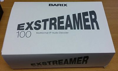 New Barix Exstreamer 100 - Network Audio Decoder AAC+ Capable 2005.8036 + AC