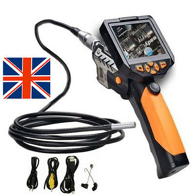 "Longer 3M 3.5"" LCD Inspection Camera 8.2 mm Borescope Endoscope Scope In UK Ship"