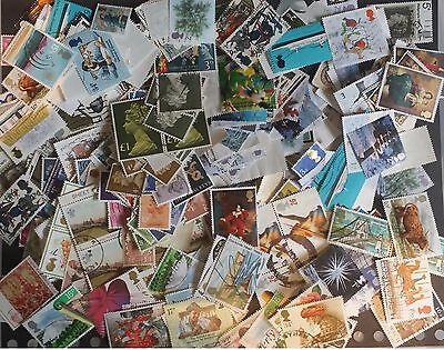 GB 100gms  Kiloware Stamps Commemoratives some Defs and Hi Vals