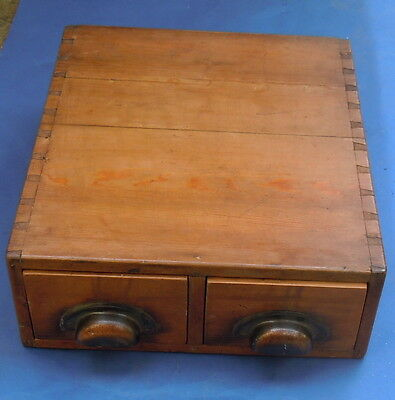 Set Of Vintage Small Filing/kitchen Pine Drawers
