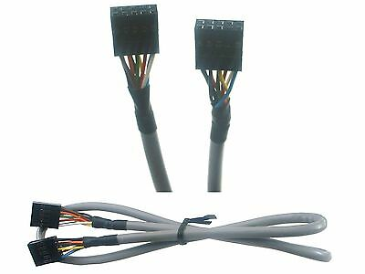 Motherboard audio pin header to front panel cable Ac'97 / HD