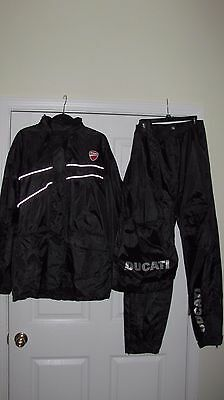 Ducati Strada V2 Rain Suit Jacket Pants And Bag Size Xl - New!!