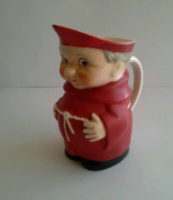 "Rare Vintage 5.75"" Red Hummel/goebel Monk Pitcher/jug S141/1"