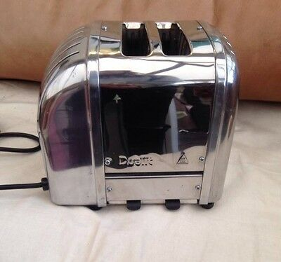 Dualit 2 Slice Toaster Stainless Steel  Silver Retro Chrome Colour Wide Slots