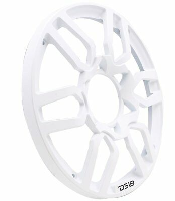 DS18 PRO-GRILL8 WHITE Universal Subwoofer 8-Inch Plastic  Grill Cover Pair