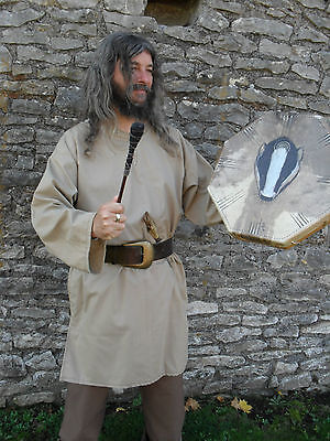 Medieval Style Tunic Top, Re-enactment Viking, LARP, Large,  light brown,