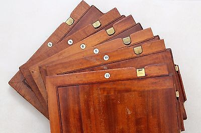 """Antique """"optimus"""" D/d Mahogany Film Holders, Set Of 6, By Perken Son & Rayment"""