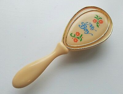 Vintage Hard Plastic Hair Brush for Baby Boy- Hong Kong