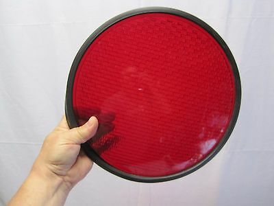 """12"""" RED Glass Stoplight Lens With Gasket B6693"""