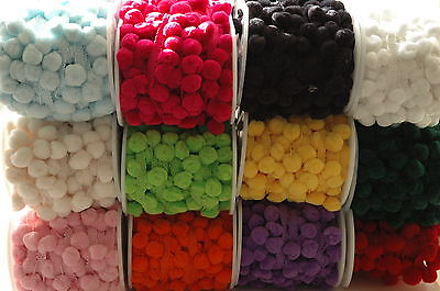 LARGE Pompom 15mm Ribbon Trim Trimming Bobble Braid Fringe Christmas Pom Pom