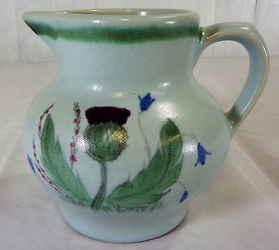 "Vintage Buchan Stoneware Pottery Thistle with Bluebells & Heather 5"" Water Jug"