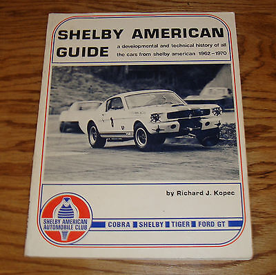 1962-1970 Ford Shelby American Guide Catalog Brochure Cobra GT-350 Tiger